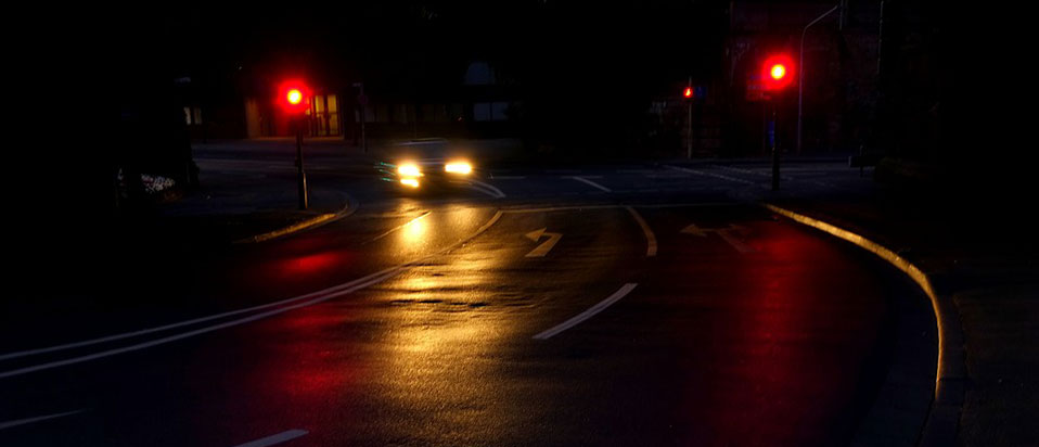 Car on a dark road