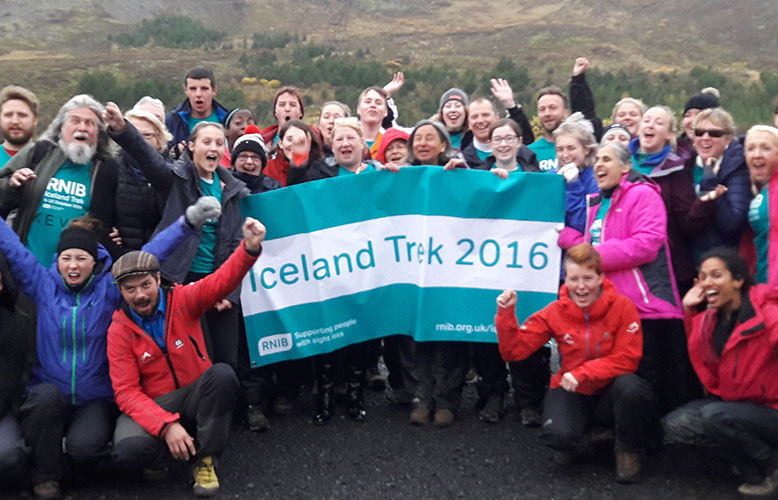 RNIB team charity trek
