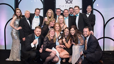 Scope Ophthalmics team at the Optician Awards