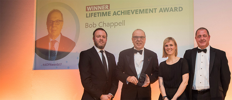 AOP Awards 2017 Lifetime Achievement award Bob Chappell