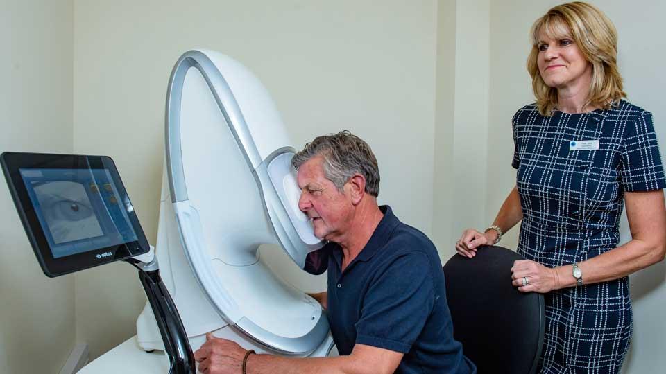 Patient having Daytona scan