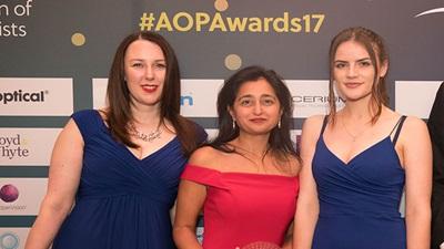 Taank Optometrists team at the AOP Awards 2017