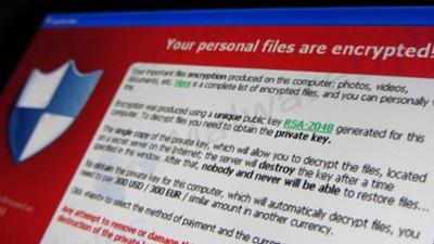 File Encryption message