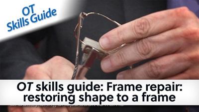 OT skills guide frame repair restoring shape to a frame banner