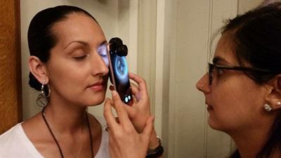 Eye test using the Peek Iphone app