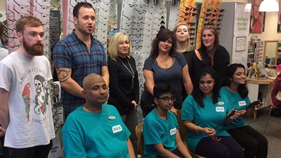 Specsavers team held a fundraising event