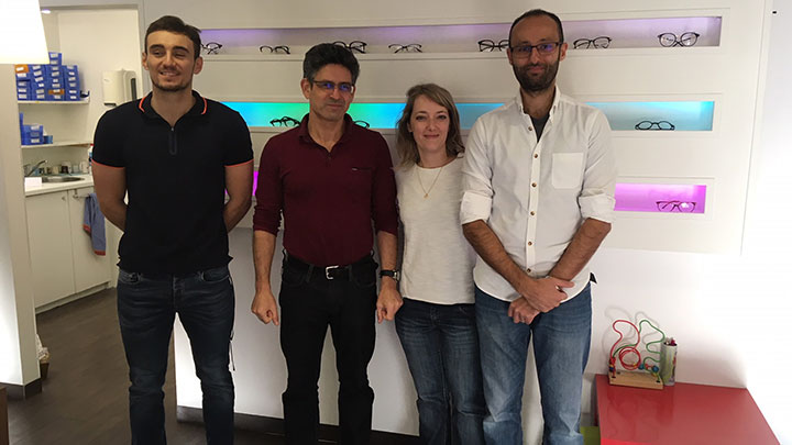 From left, Nicolas Sintès, Alain Abecassis, Aurélie Cuvier and Mehran Waheed
