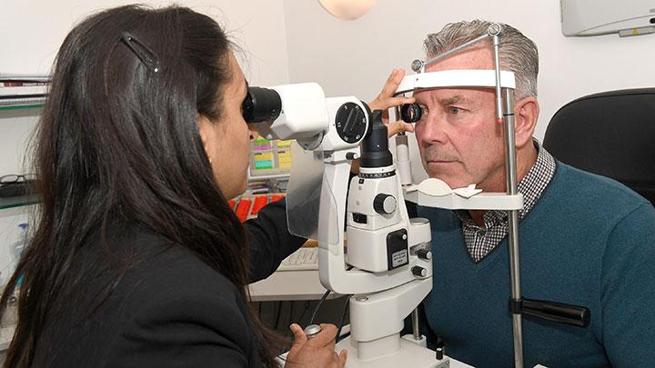 Michael Vines eye test