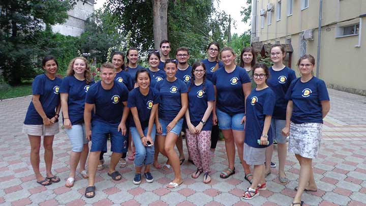 A group of optometry students travelled to Moldova to provide eye care