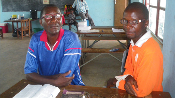 men wearing spectacles distributed in zambia
