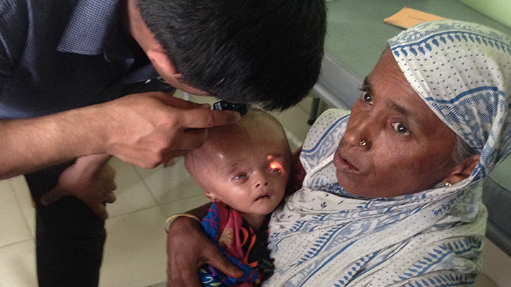 Child has sight tested during Just Help Foundation visit