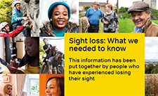 Cover of dealing with sight loss booklet