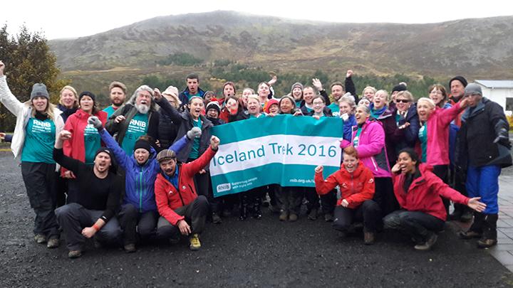 RNIB Iceland trek