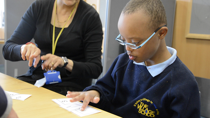 SeeAbility's Children in Focus initiative – a child with special needs receives a sight test