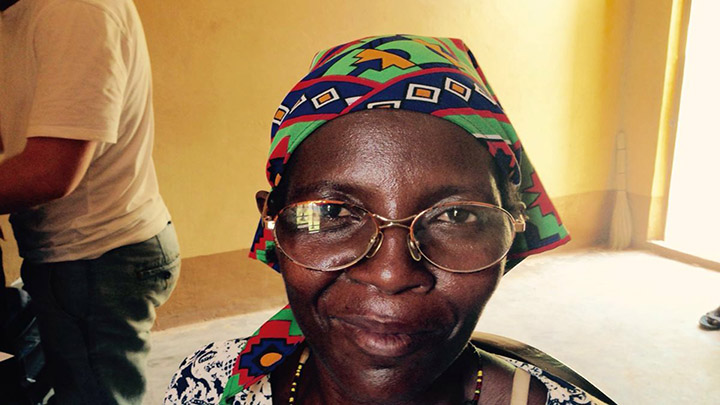 Ugandan woman wearing spectacles