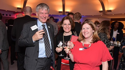 (Left to right) Richard Helliwell (CEO, Scottish War Blinded), Alison Oliver (CEO, Visionary) and Lara King (No One Alone campaign group manager)