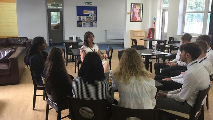 Wardales Williams opticians educational sixth form visit