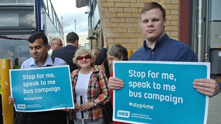 RNIB Bus campaign