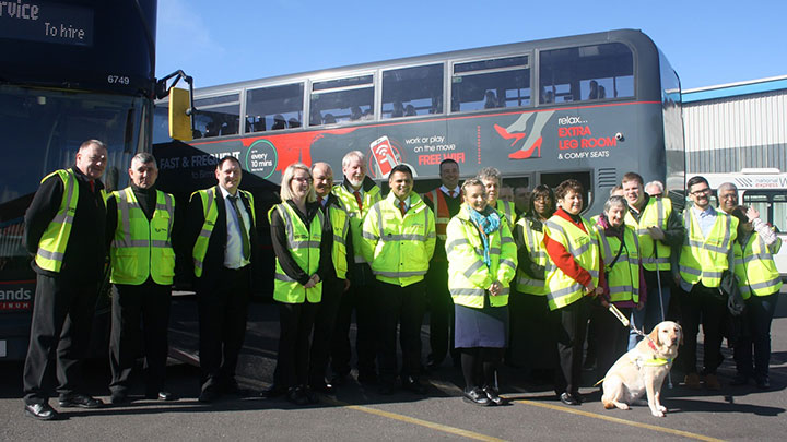 RNIB National express charter bus