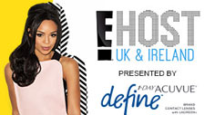 Acuvue Define sponsorship deal with E! poster
