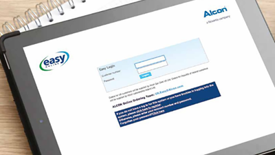 Alcon's new ordering system