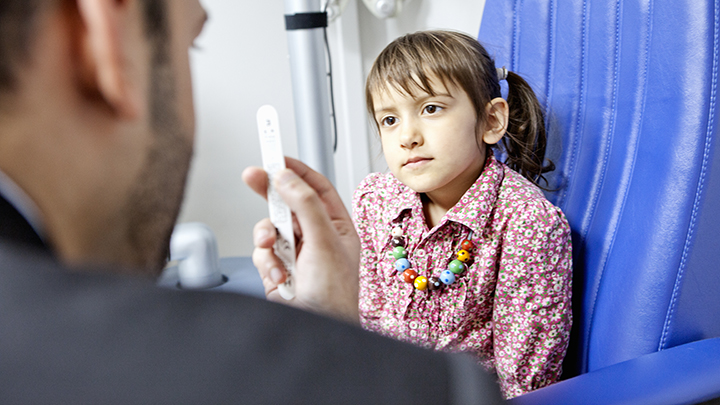 Child receives sight test