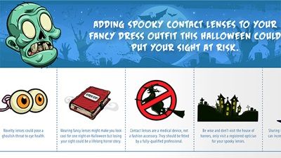 BLCA contact lens guidance for Halloween