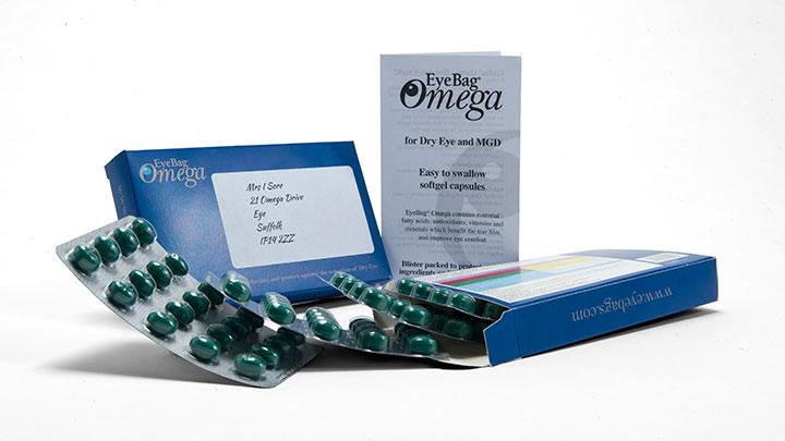 EyeBag Omega blister packed capsules