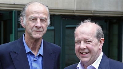 Sir Ranulph Fiennes, left, and Trevor Rowley, right