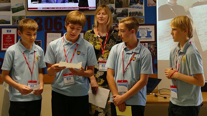 Children taking part in the Essilor children's campaign