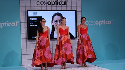100% Optical fashion show models