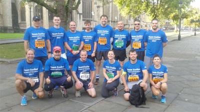 Essilor half marathon team