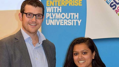 Plymouth University optometry prize winner, Vanisha Patel