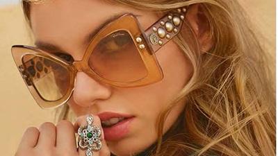 Model wearing Roberto Cavalli spectacles