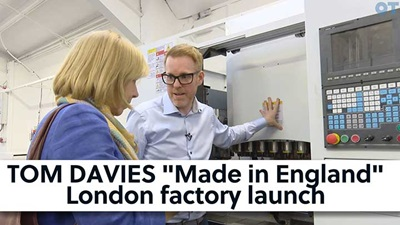 """Tom Davies """"Made in England"""" London factory launch"""