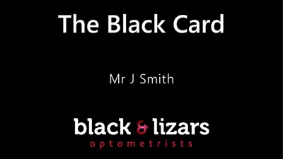 Black & Lizars loyalty card