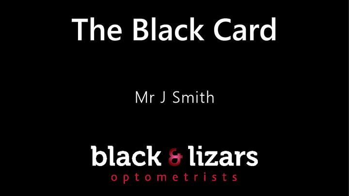 Black & Lizars loyalty card