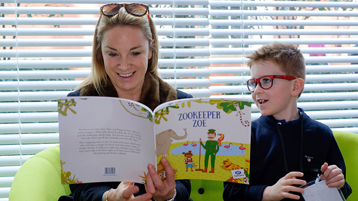 Actress Tamzin Outhwaite reading Boots' Zookeeper Zoe