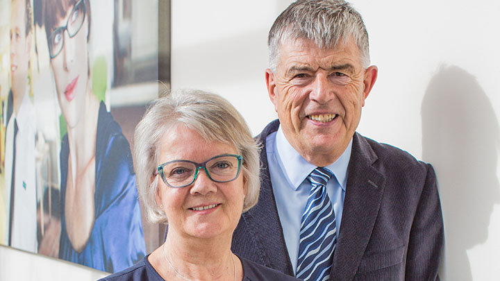 Specsavers co-founders, Doug and Mary Perkins