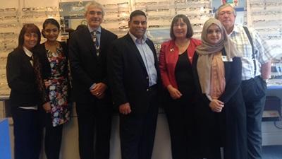 Khalid Mahmood MP visits Ian Hadfield Opticians, Birmingham
