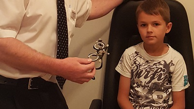 Child has sight tested