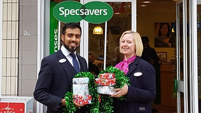 Specsavers Shipley and Idle Christmas charity appeal