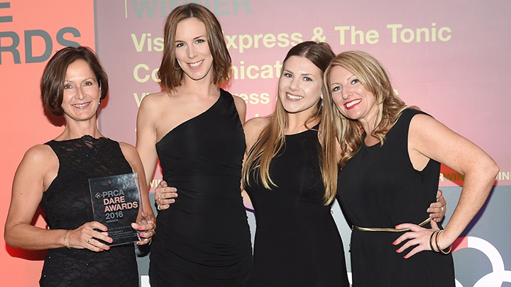 The Vision Express PR team collect their award
