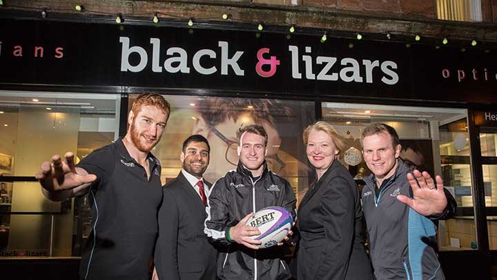 Glasgow Warriors rugby players