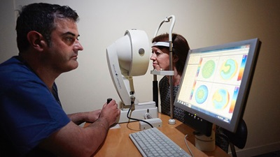 Optical Express Newcastle eye test