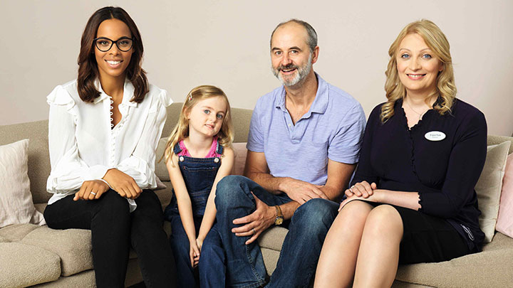 Rochelle Humes Specsavers child eye test