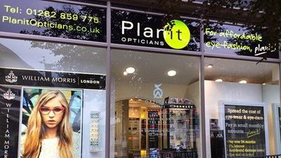 Exterior of Planit Opticians