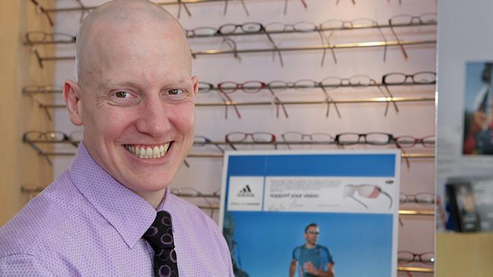 Sheffield-based optometrist, Alex Gage