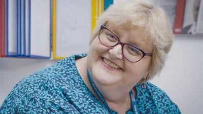 Eye clinic liaison officer, Hilary Butter