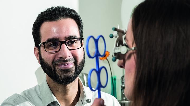 Optometrist Salman Siddiqui